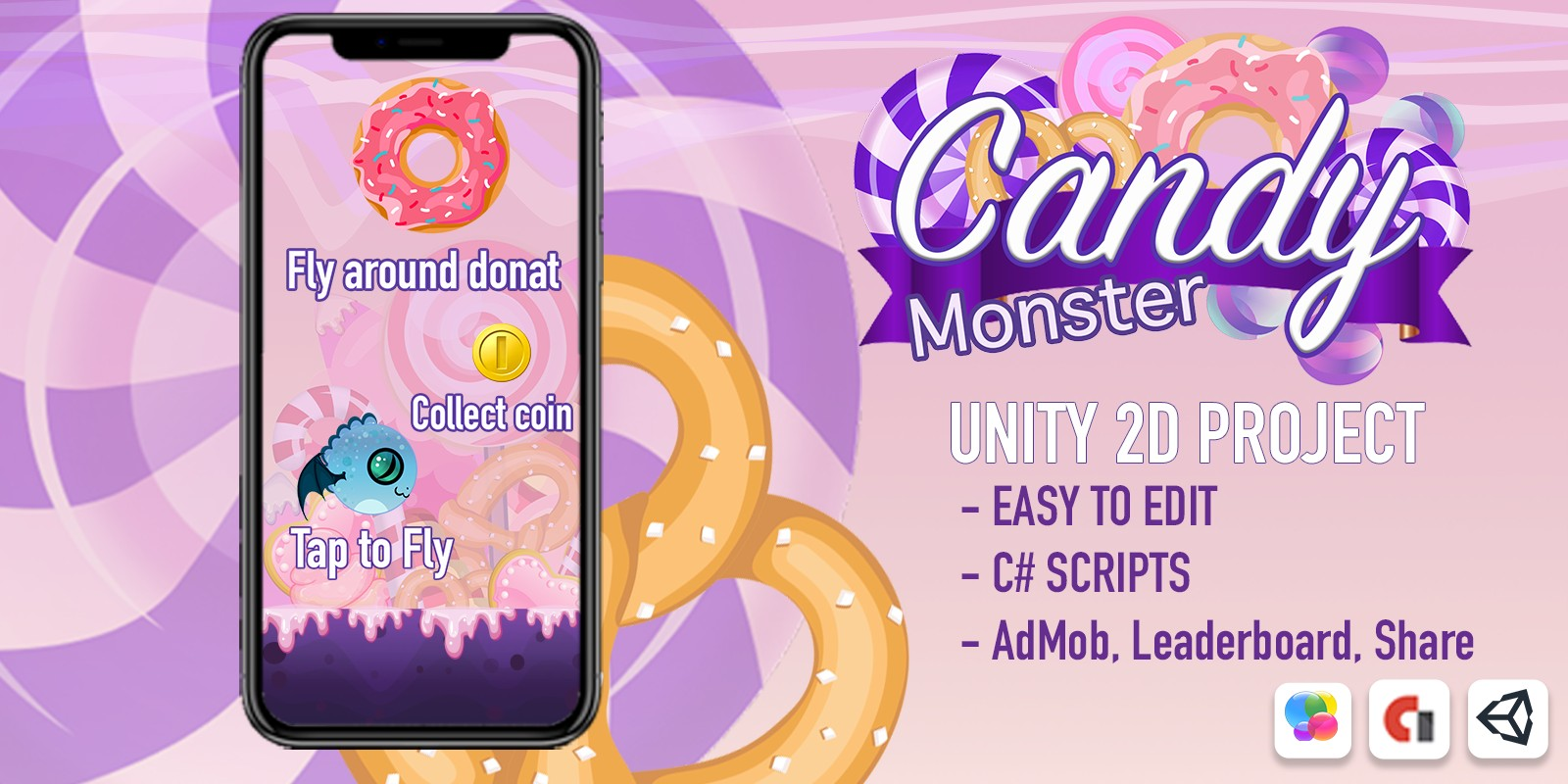 Candy Monster - Complete Unity Project