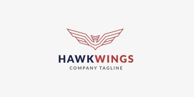 Hawk Wings Logo Template