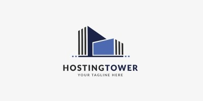 Hosting Tower Logo Template