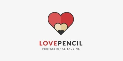 Love Pencil Logo Template