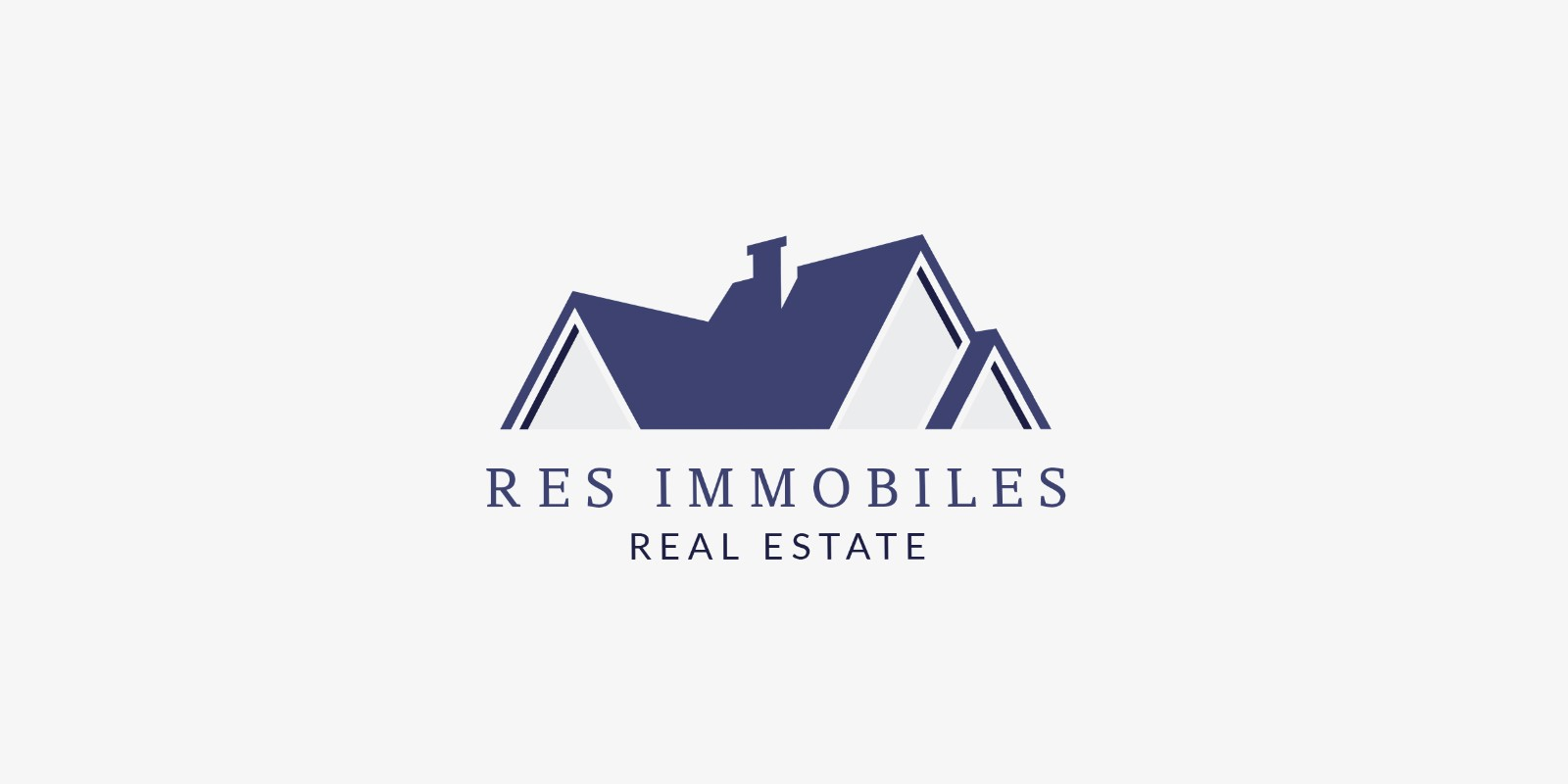 Res Immobiles Logo Template