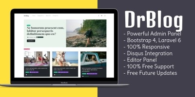 DrBlog - Blogging Script with Admin Panel