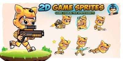 Tiger Boy 2D Game Sprites