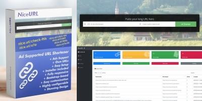 NiceURL - URL Shortener with Ads Support