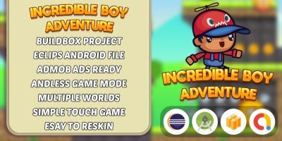 Incredible Boy Adventure - Buildbox Template