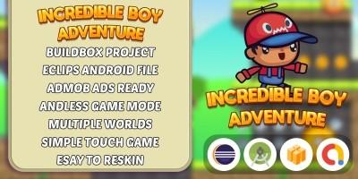 Incredible Boy Adventure - Buildbox Template