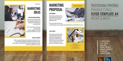 Professional Marketing Flyer - A4 PSD Templates