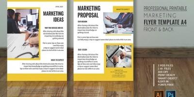 Professional Marketing Flyer - A4 PSD Templates