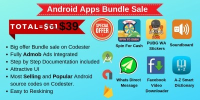 6 Android App Templates Bundle