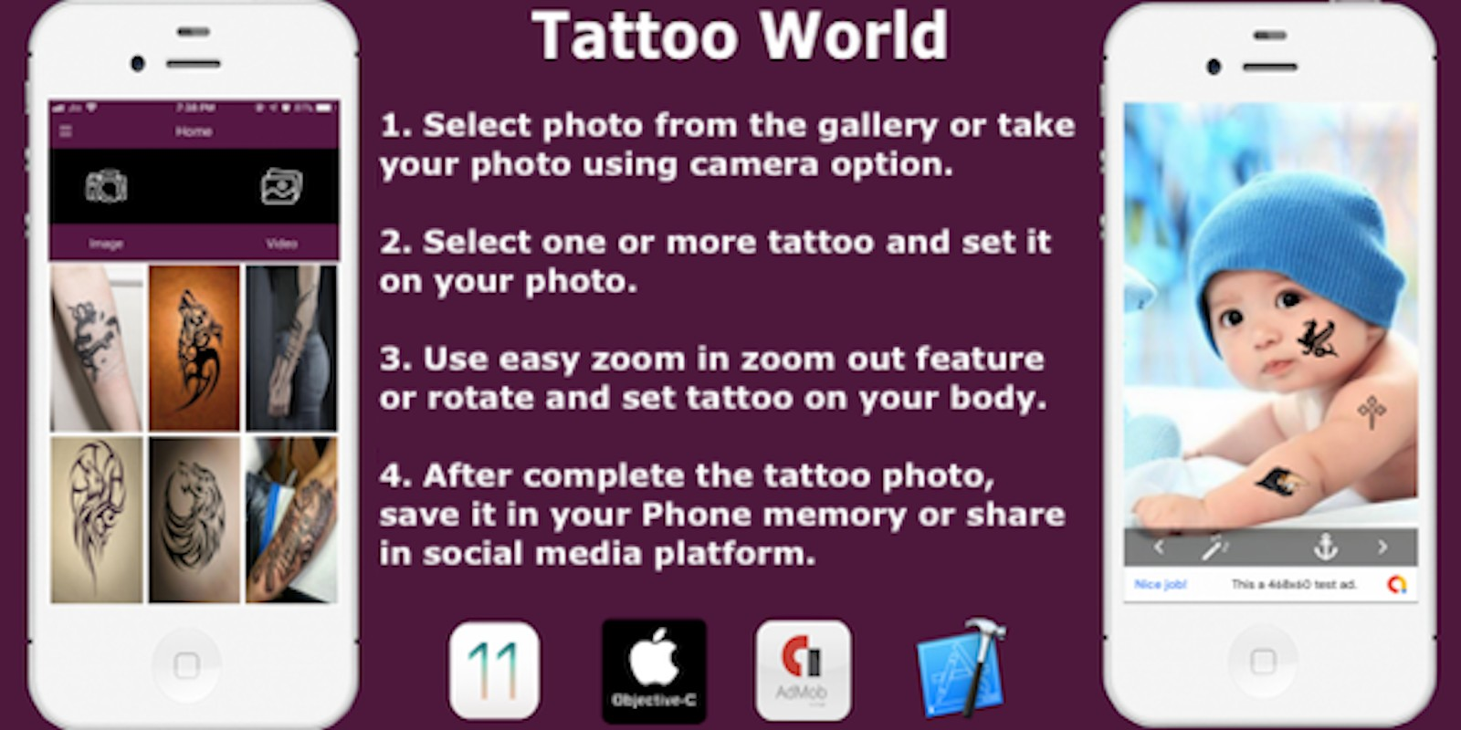 Tattoo World - iOS Source Code