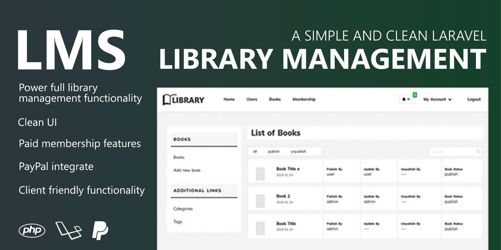 Library Management System - Laravel PHP
