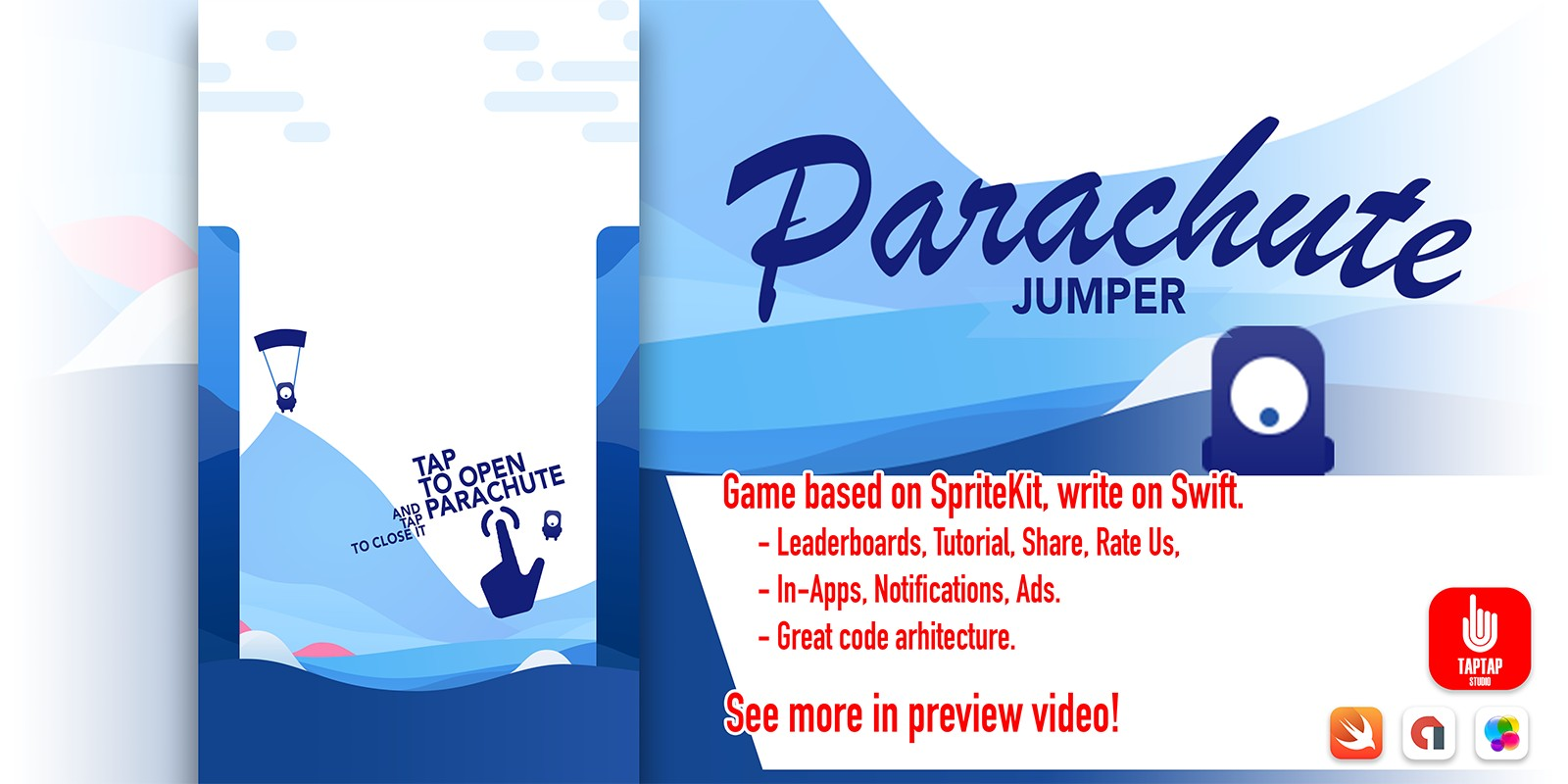 Parachute Jumper - iOS Source Code