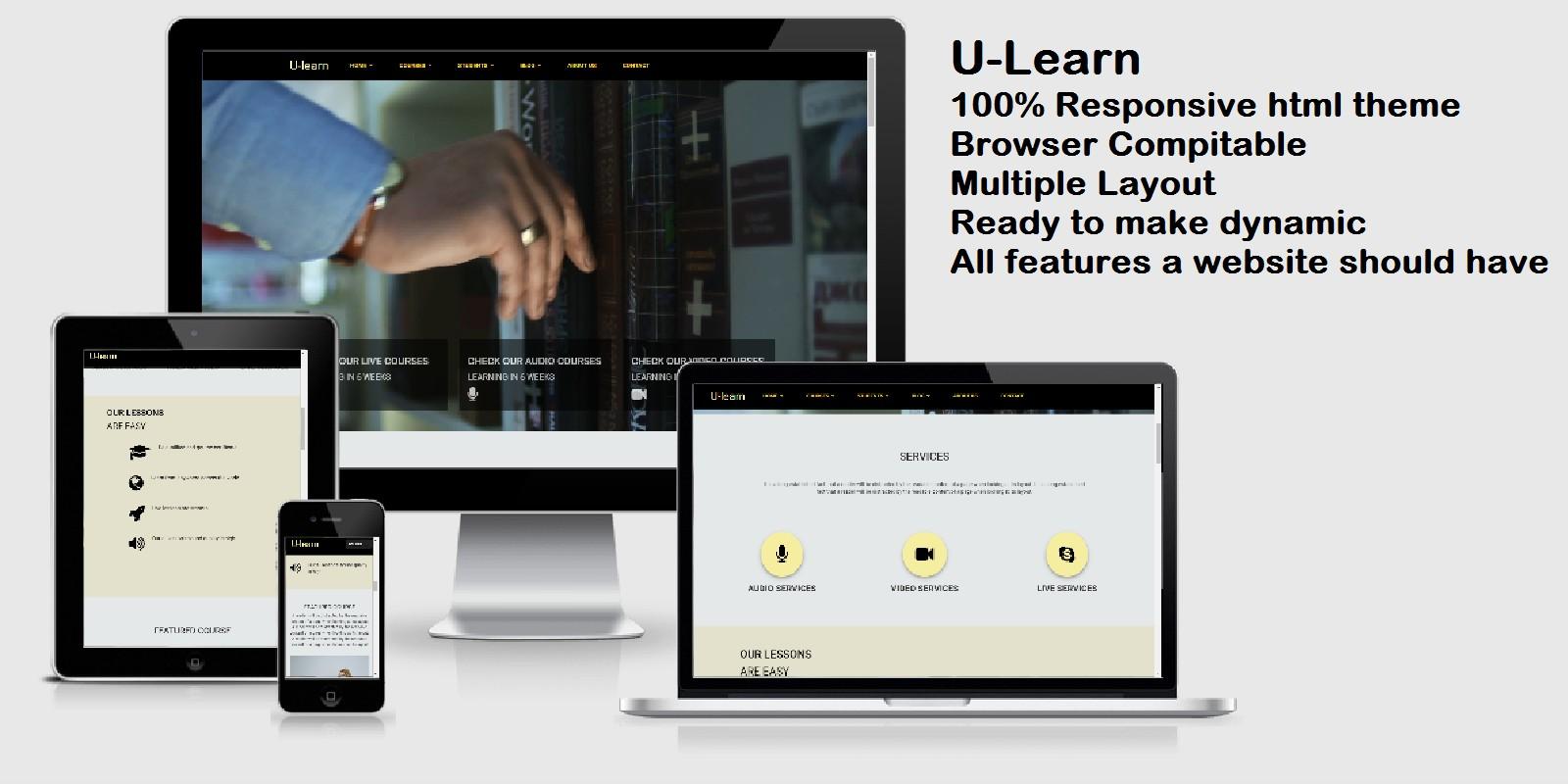 U-Learn - Online Teaching HTML Theme