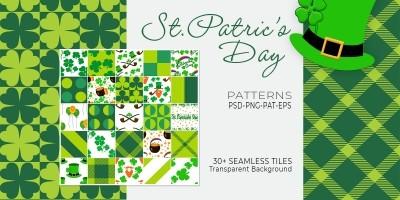 32 St Patrics Day Seamless Tileable Pattern