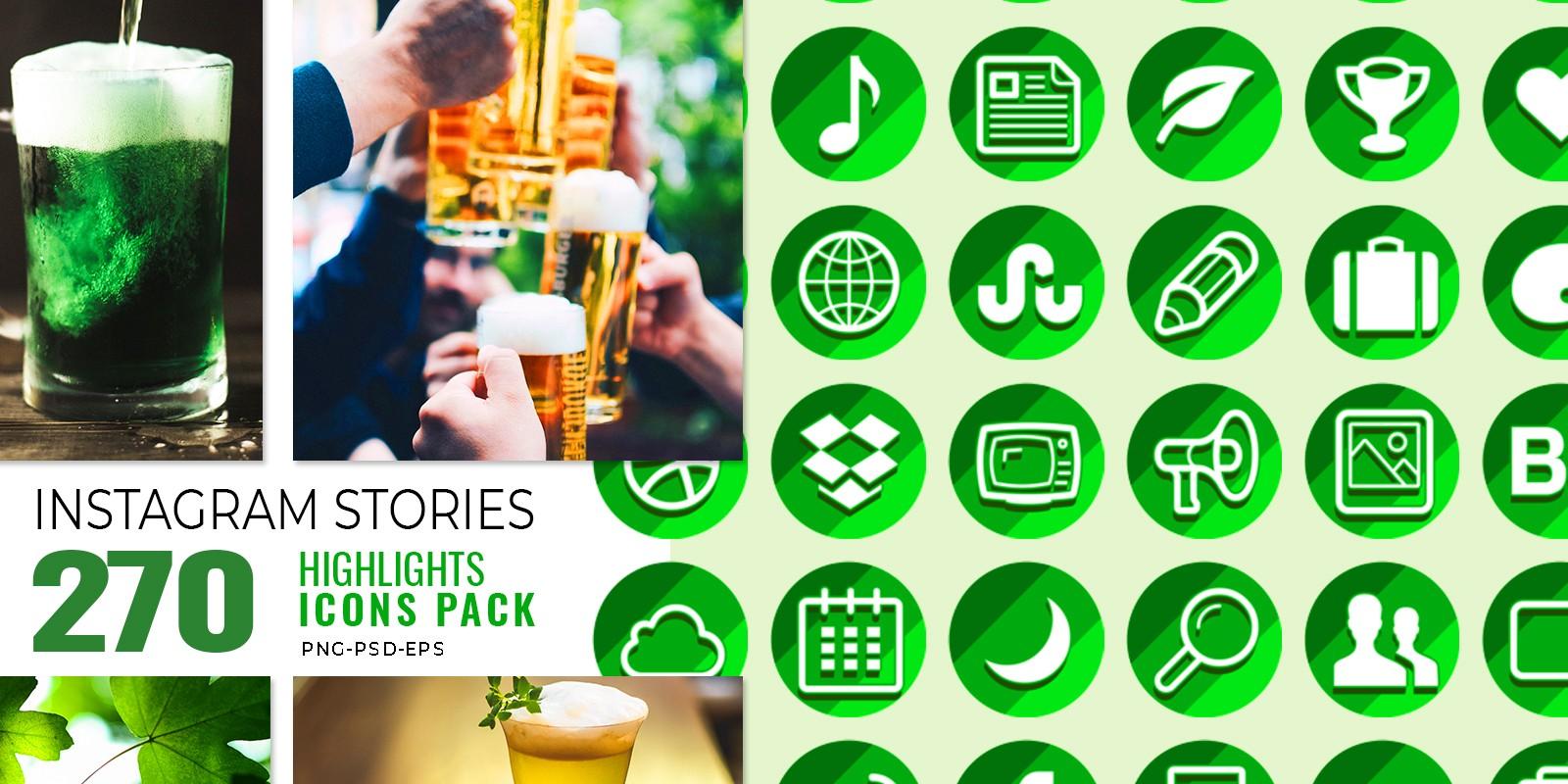270 St Patrics Day Insta - Story Highlights Icons