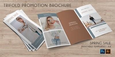 Tri-Fold Promotion Brochure - 2 Templates