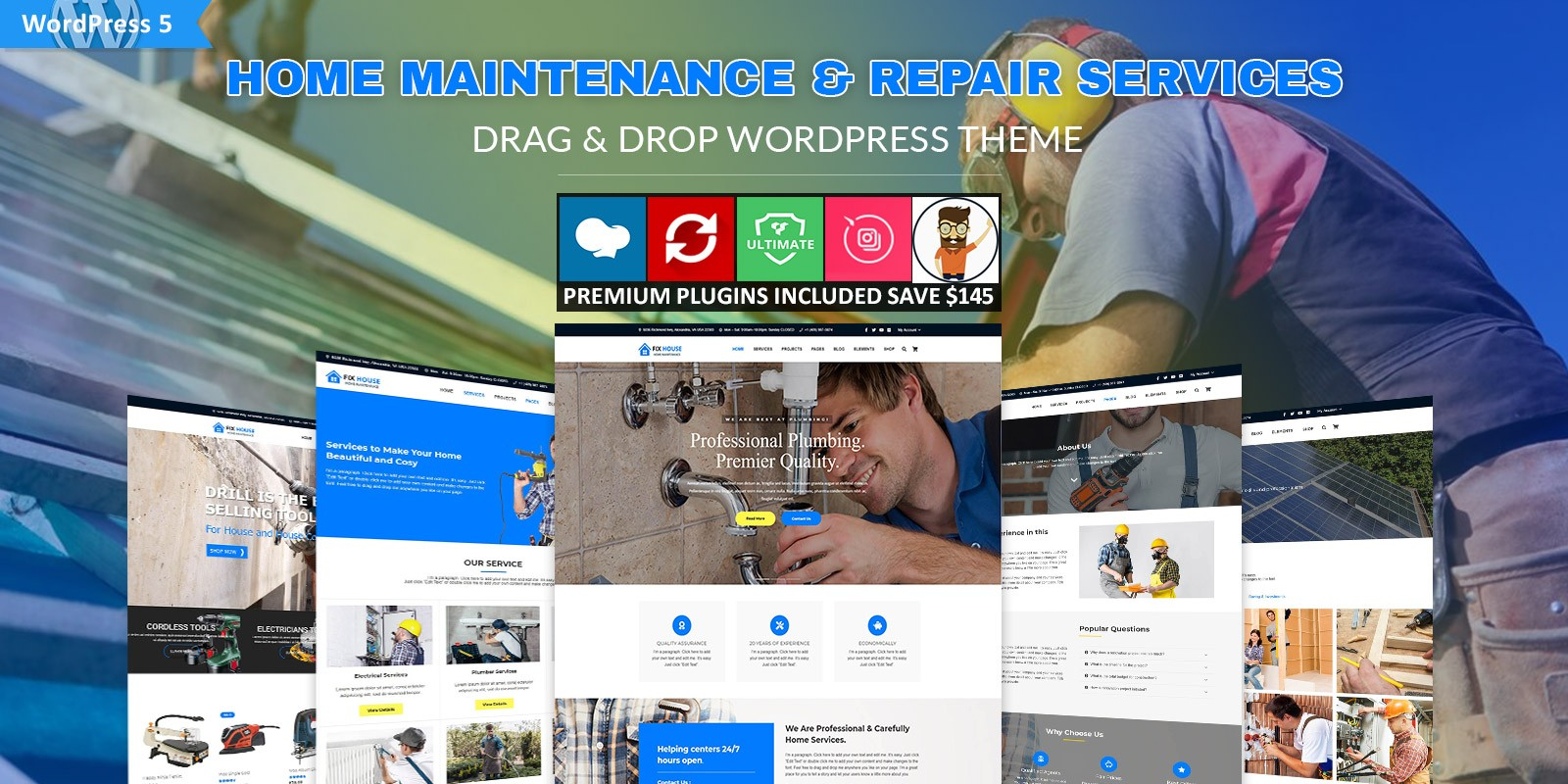 FixHouse - Repair Services WordPress Theme