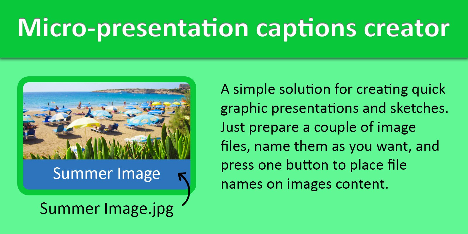 Micro-Presentation Captions Creator .NET