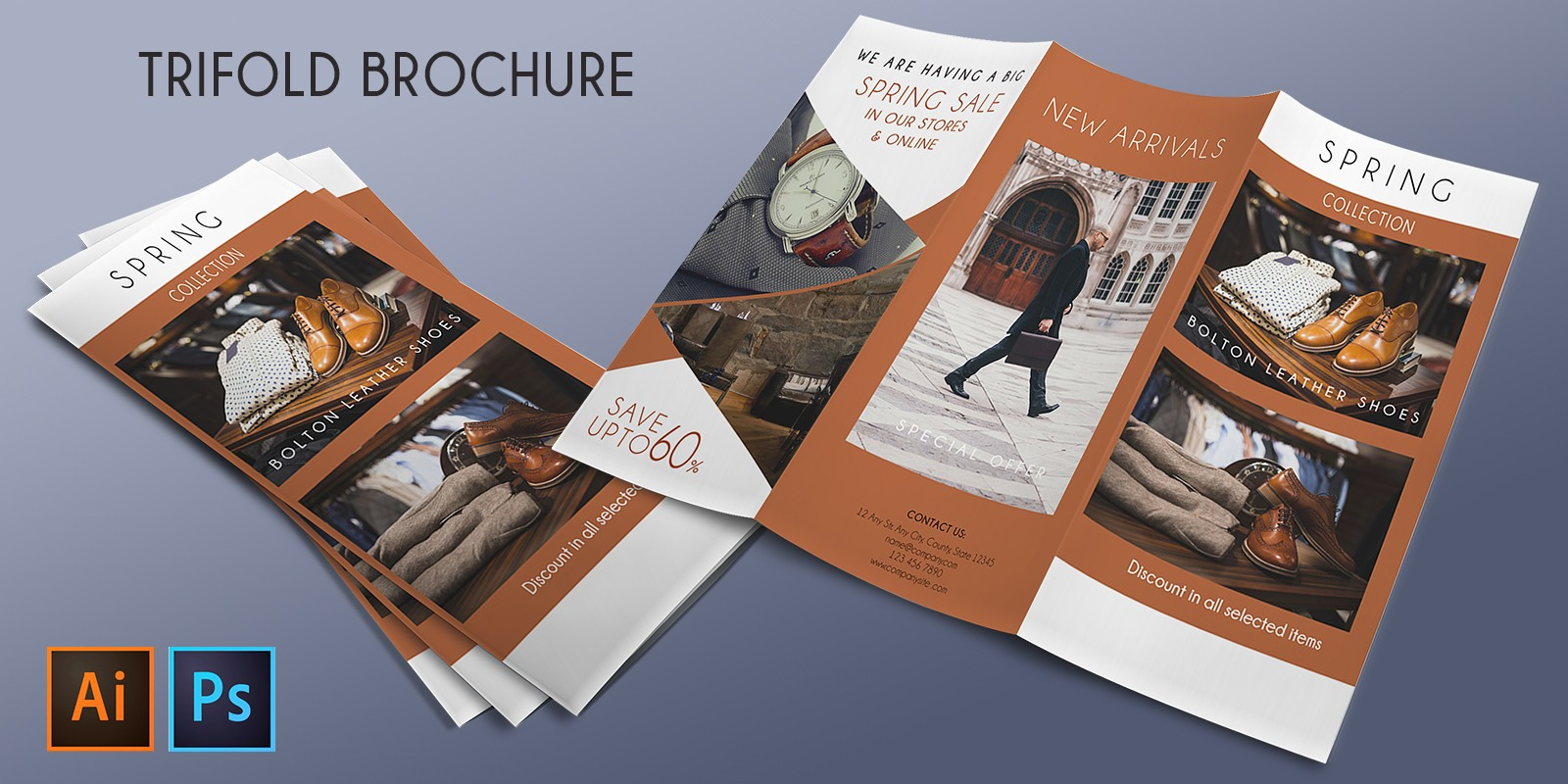 Tri-Fold Promotion Sale Brochure – 2 Templates