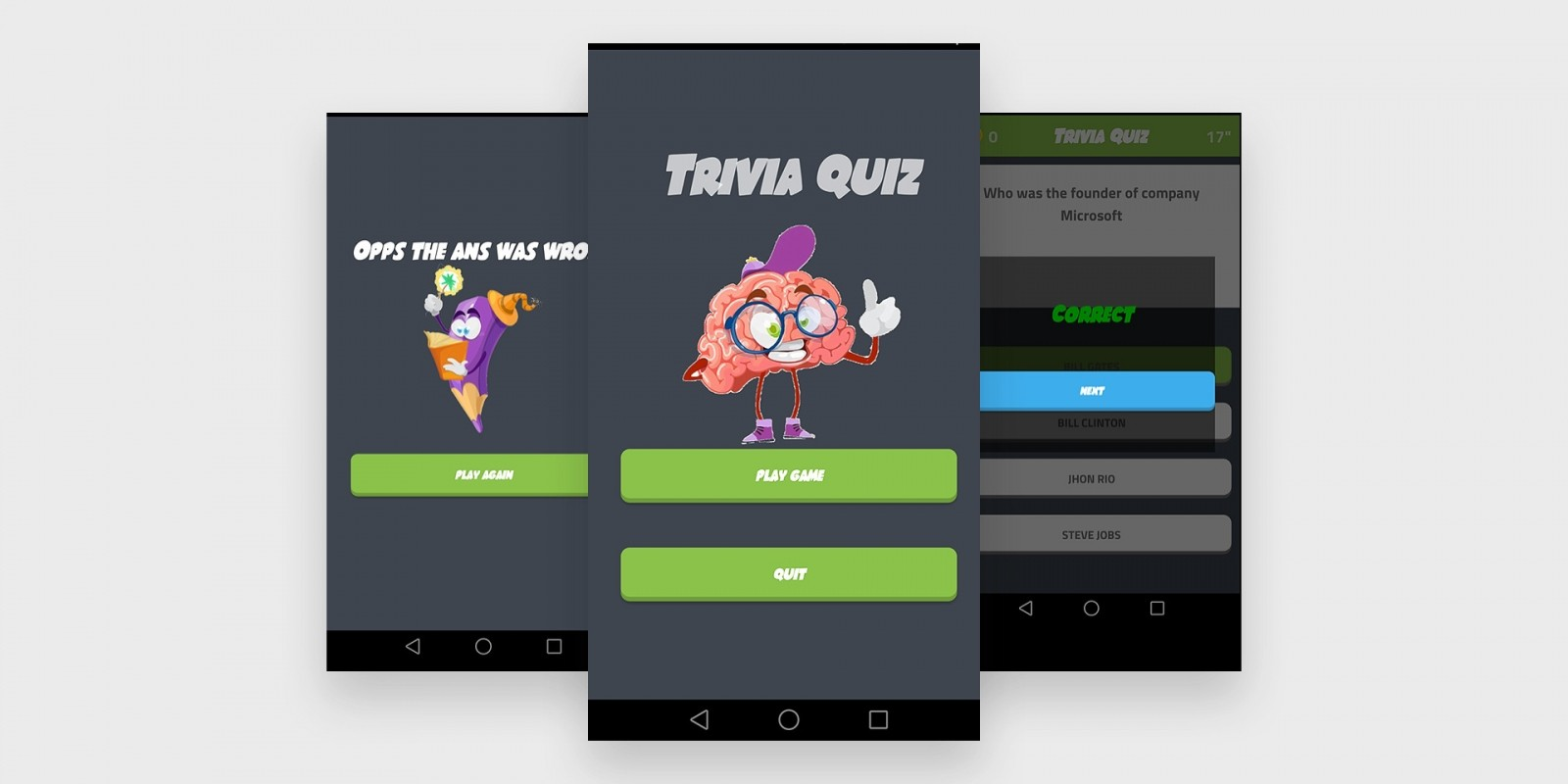 QuizApp - Android Studio Source Code