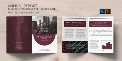 Bi-Fold Corporate Brochure Annual Report – A4