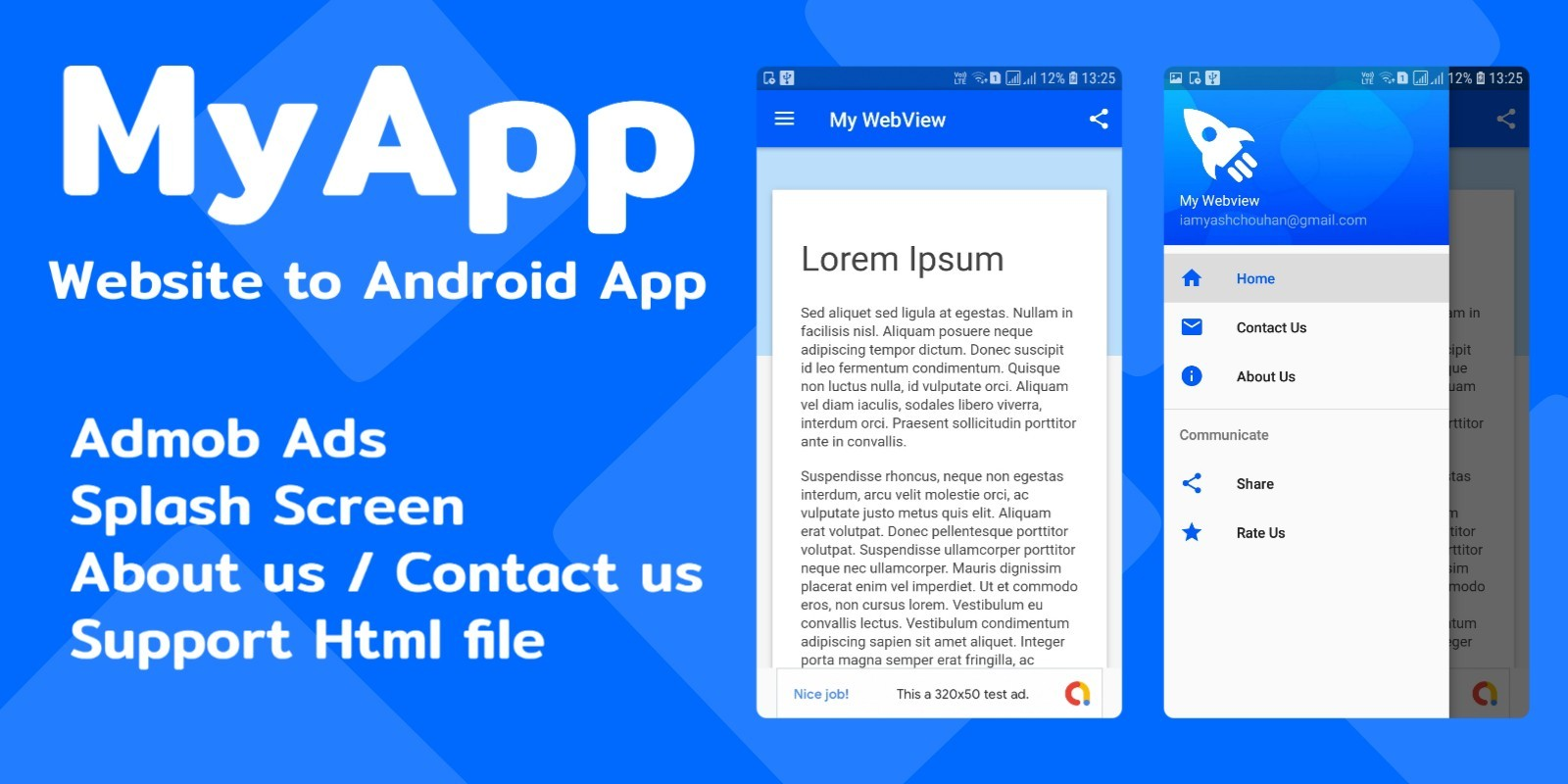 MyApp - Website to Android App