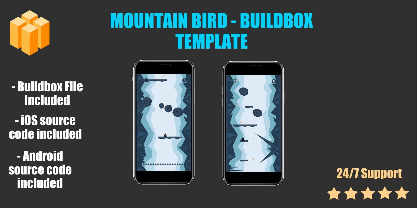 Mountain Bird - Buildbox Template