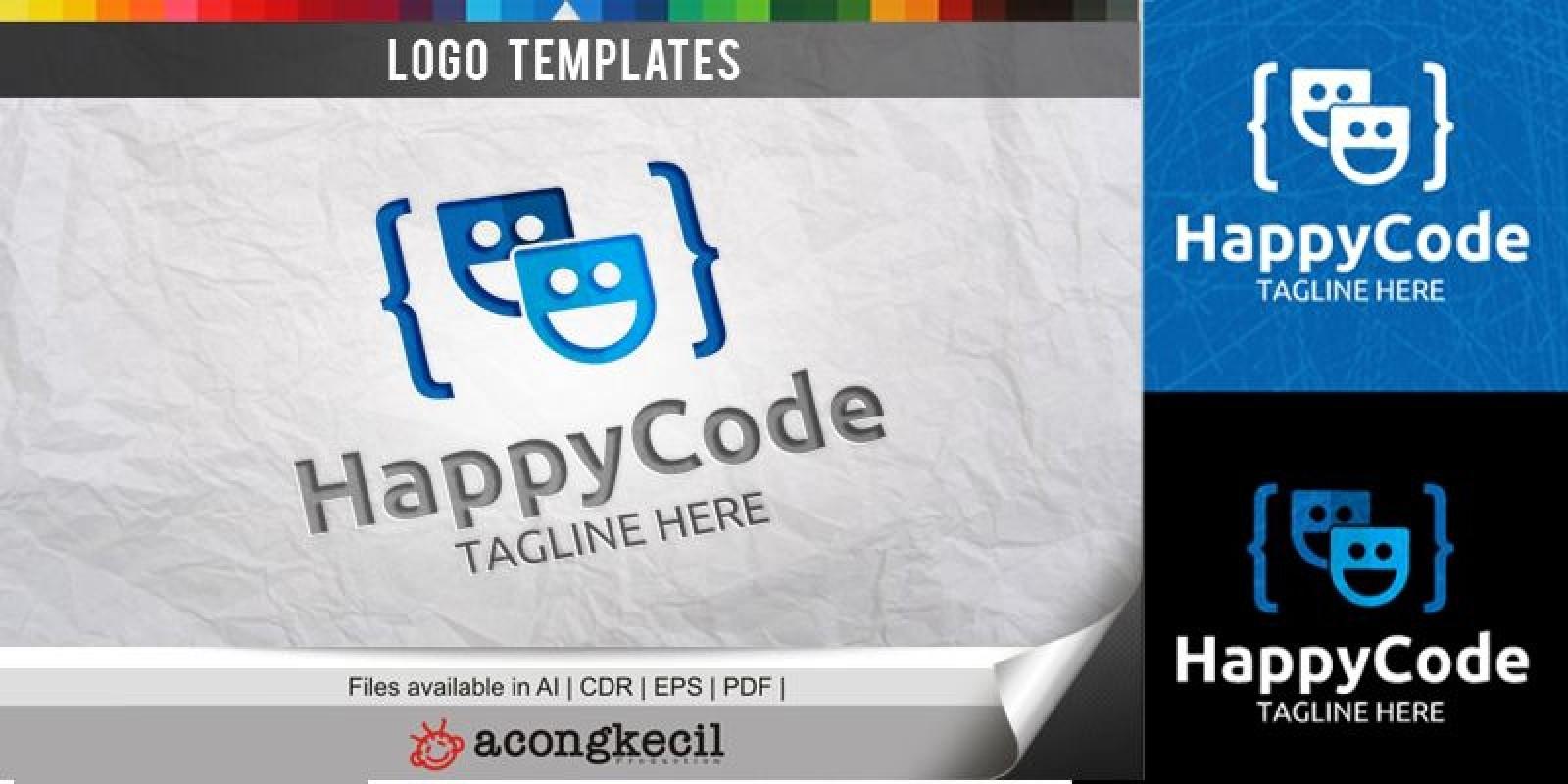 Happy Code - Logo Template