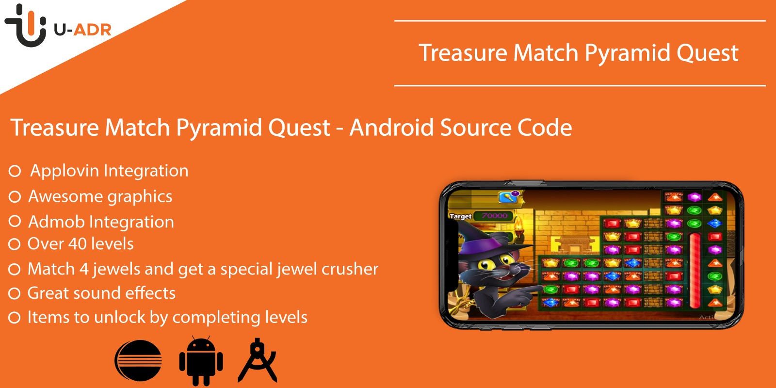 Treasure Match Pyramid Quest - Android Source Code