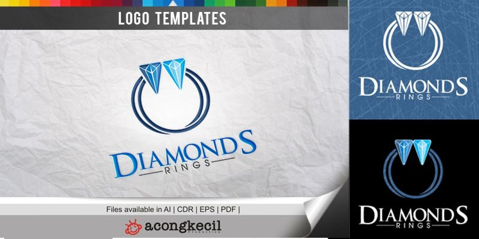 Diamonds Ring - Logo Template