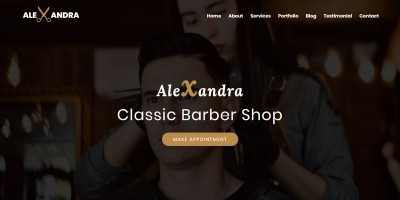 Alexandra - Barber Shop HTML Template
