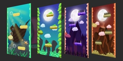 Vertical 2D Backgrounds 2