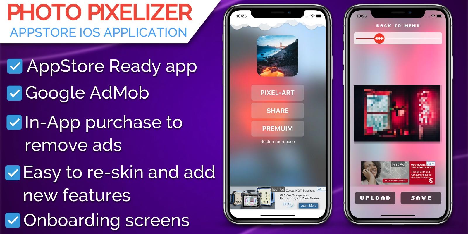 Photo Pixelizer iOS Application Source Code
