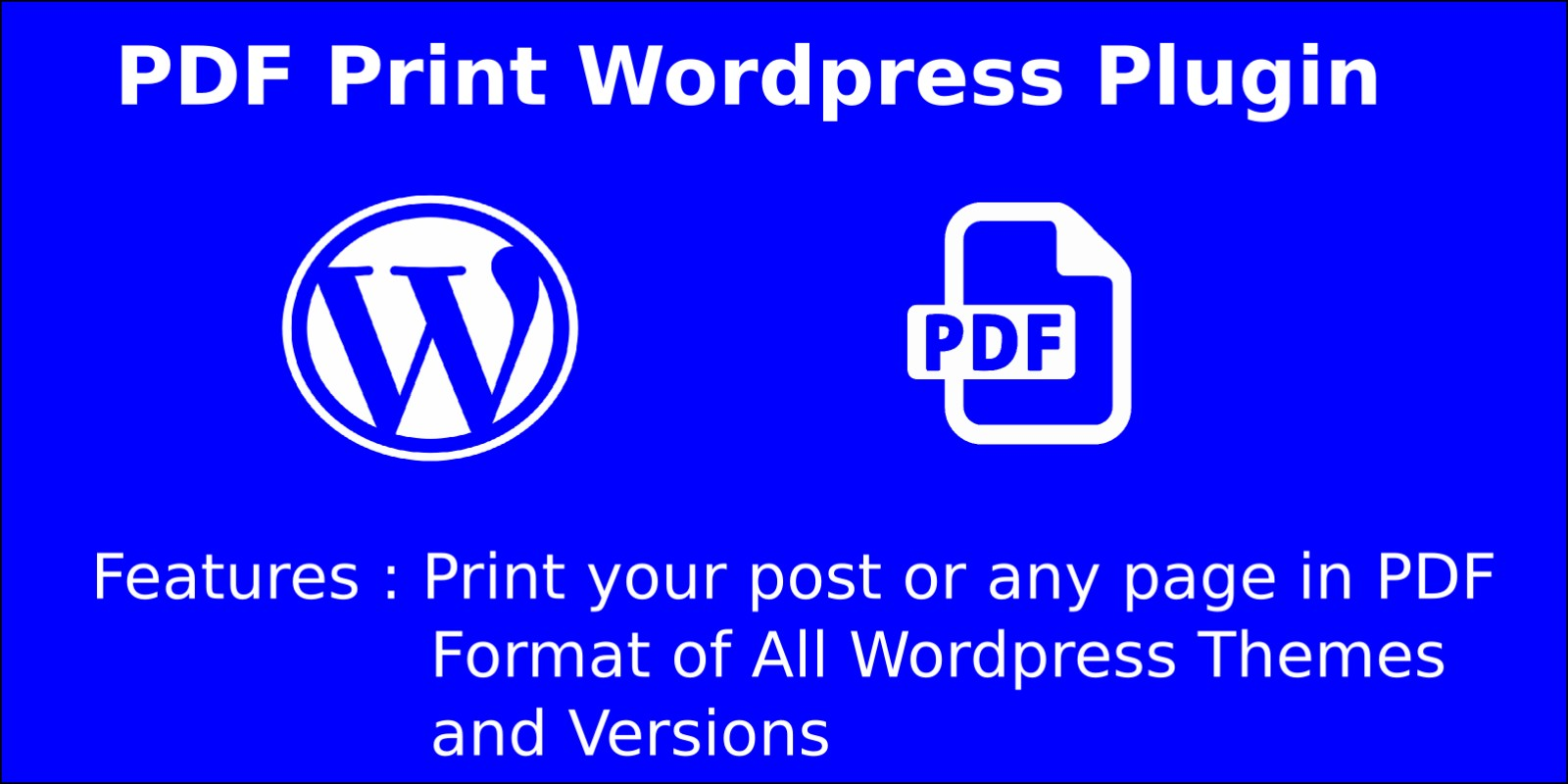 PDF Print Wordpress Plugin
