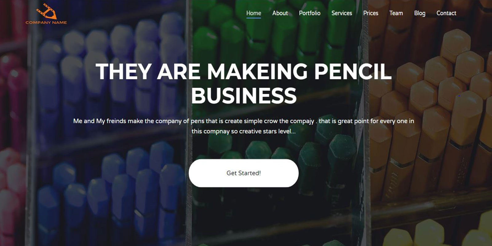 Pencils - Professional Portfolio HTML Template