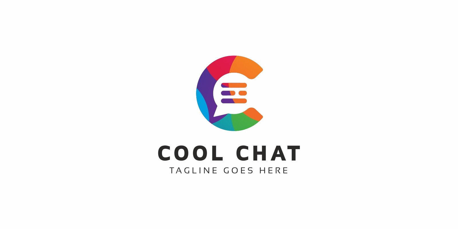 Cool Chat C Letter Logo