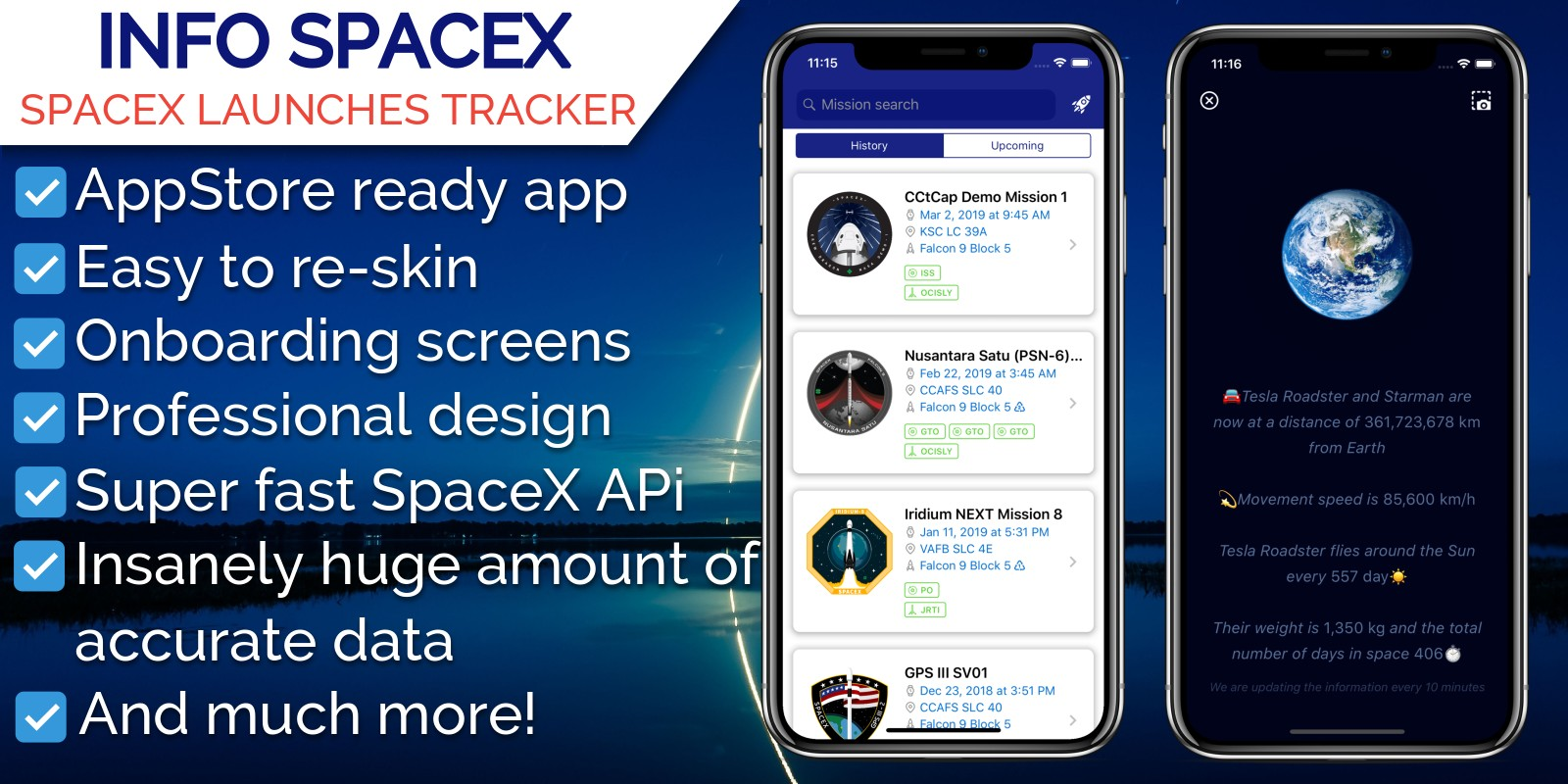 InfoSpace - iOS SpaceX Launches Tracker