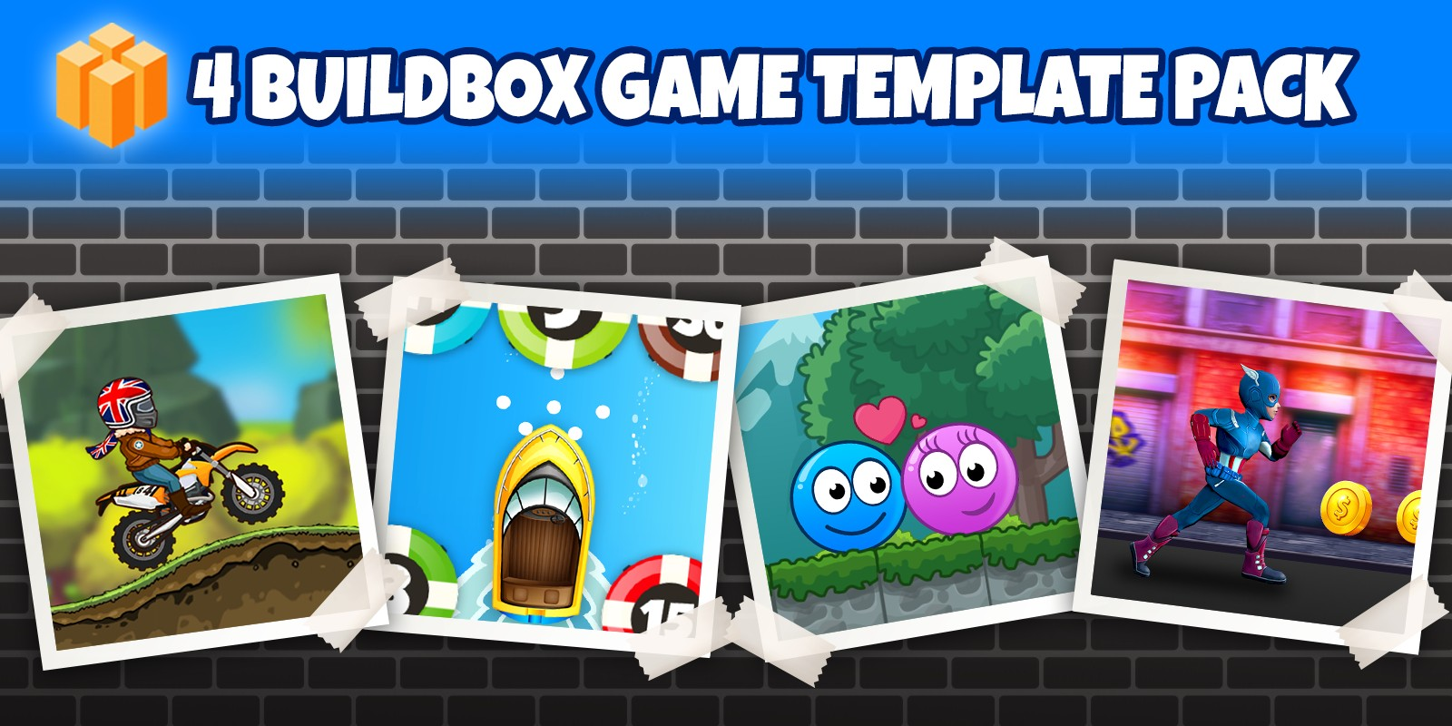 4 Buildbox Game Template Pack