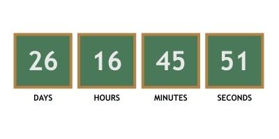 Chalkboard Theme Countdown Timer Javascript