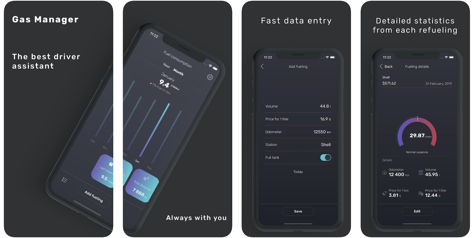 Gas Manager - iOS Source Code