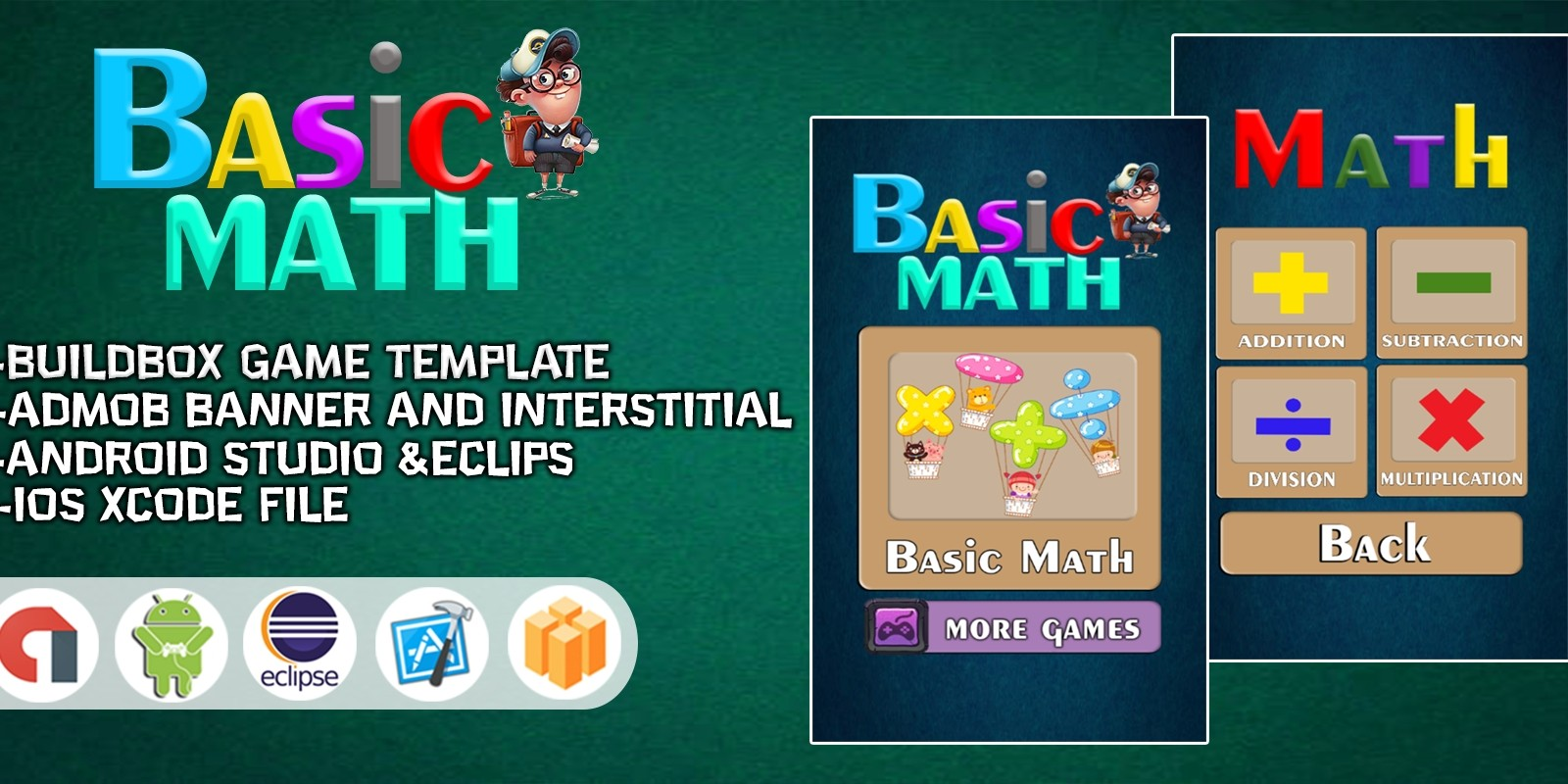 Basic Math For Kids - Buildbox Project