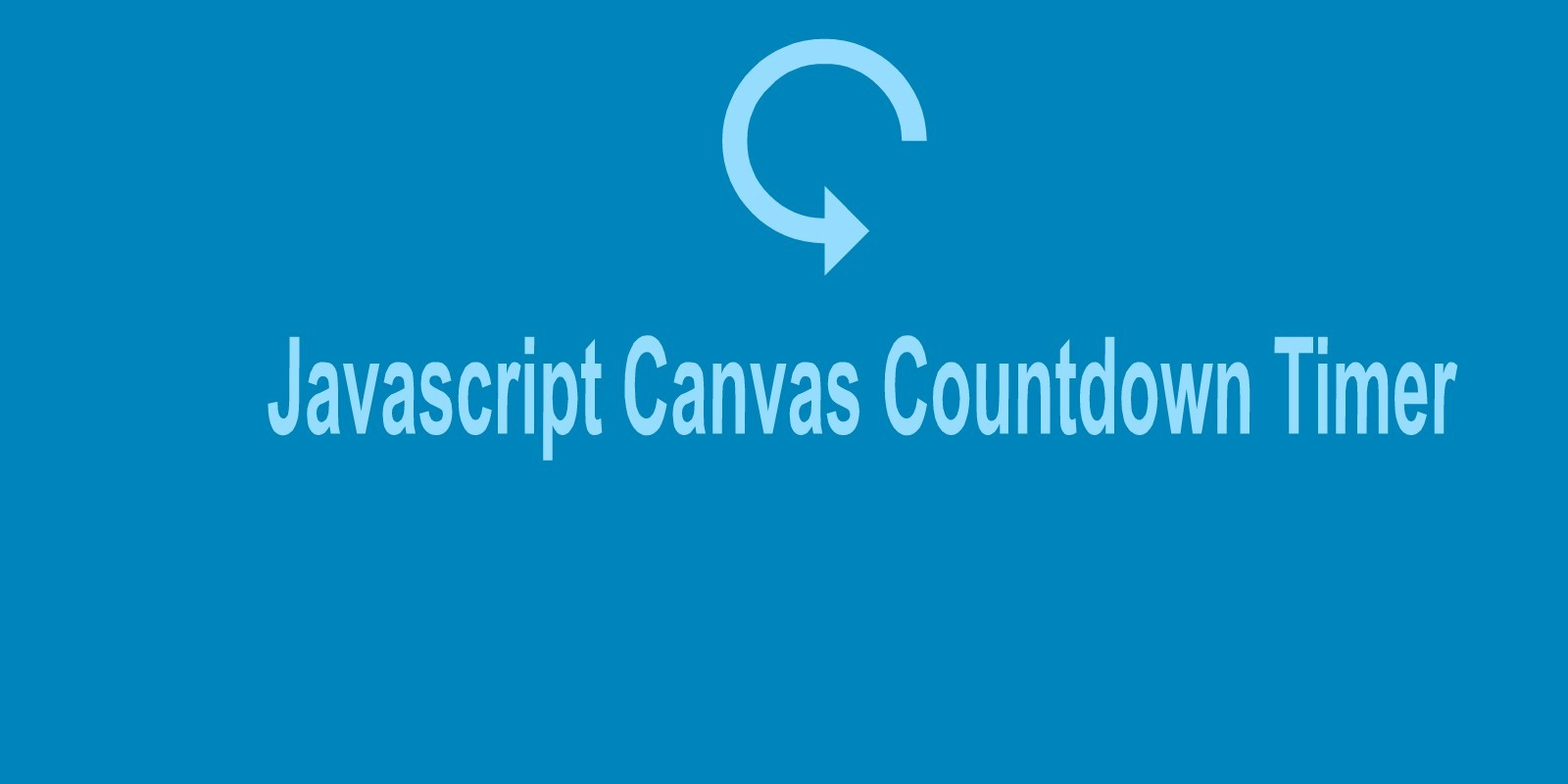 JS Canvas Countdown Timer