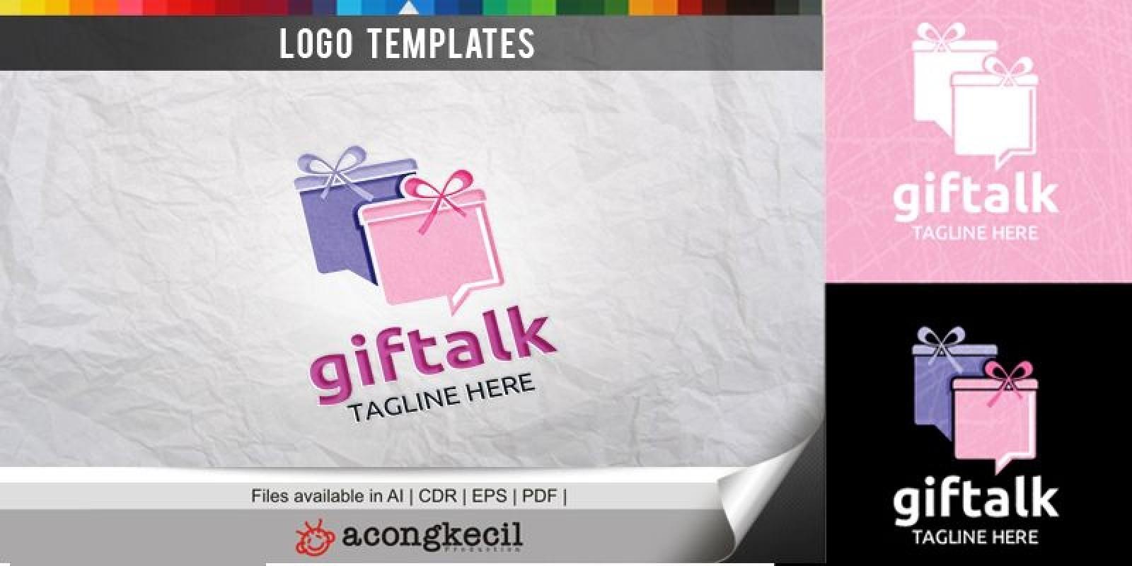 Gift Talk - Logo Template