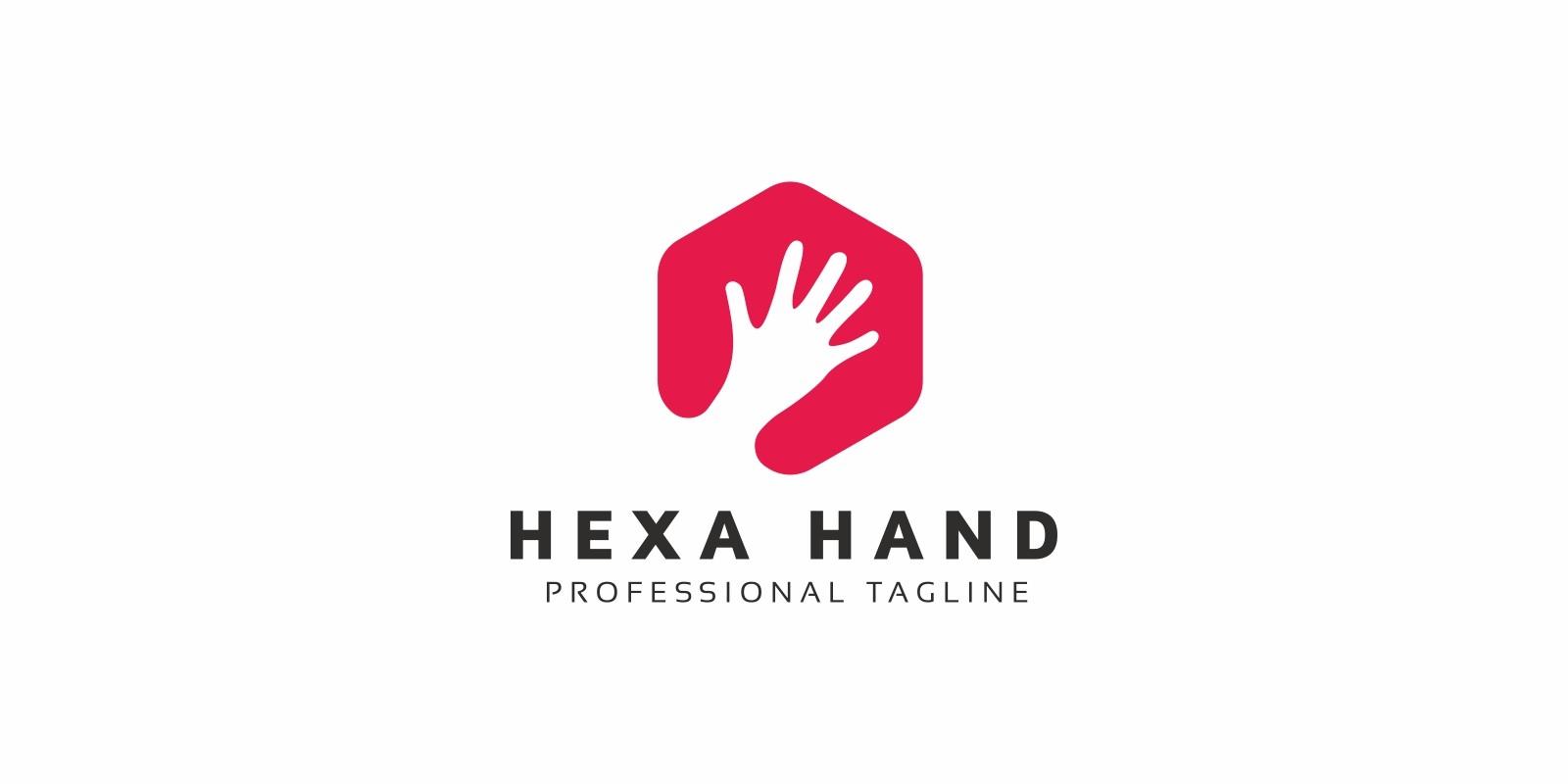 Hexagon Hand Logo
