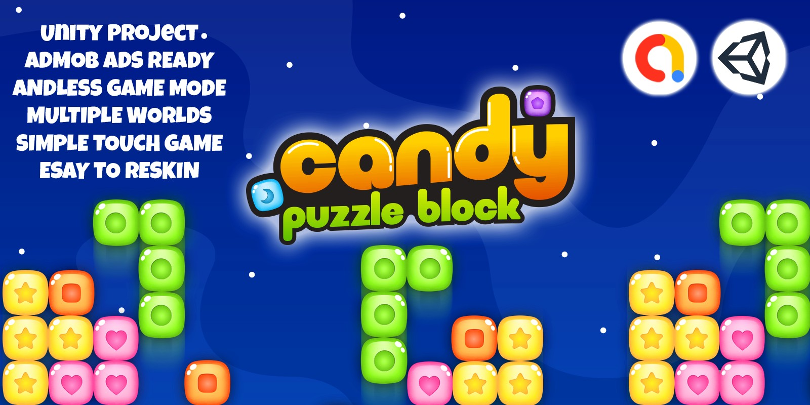 Candy Block Puzzle - Template Game Unity