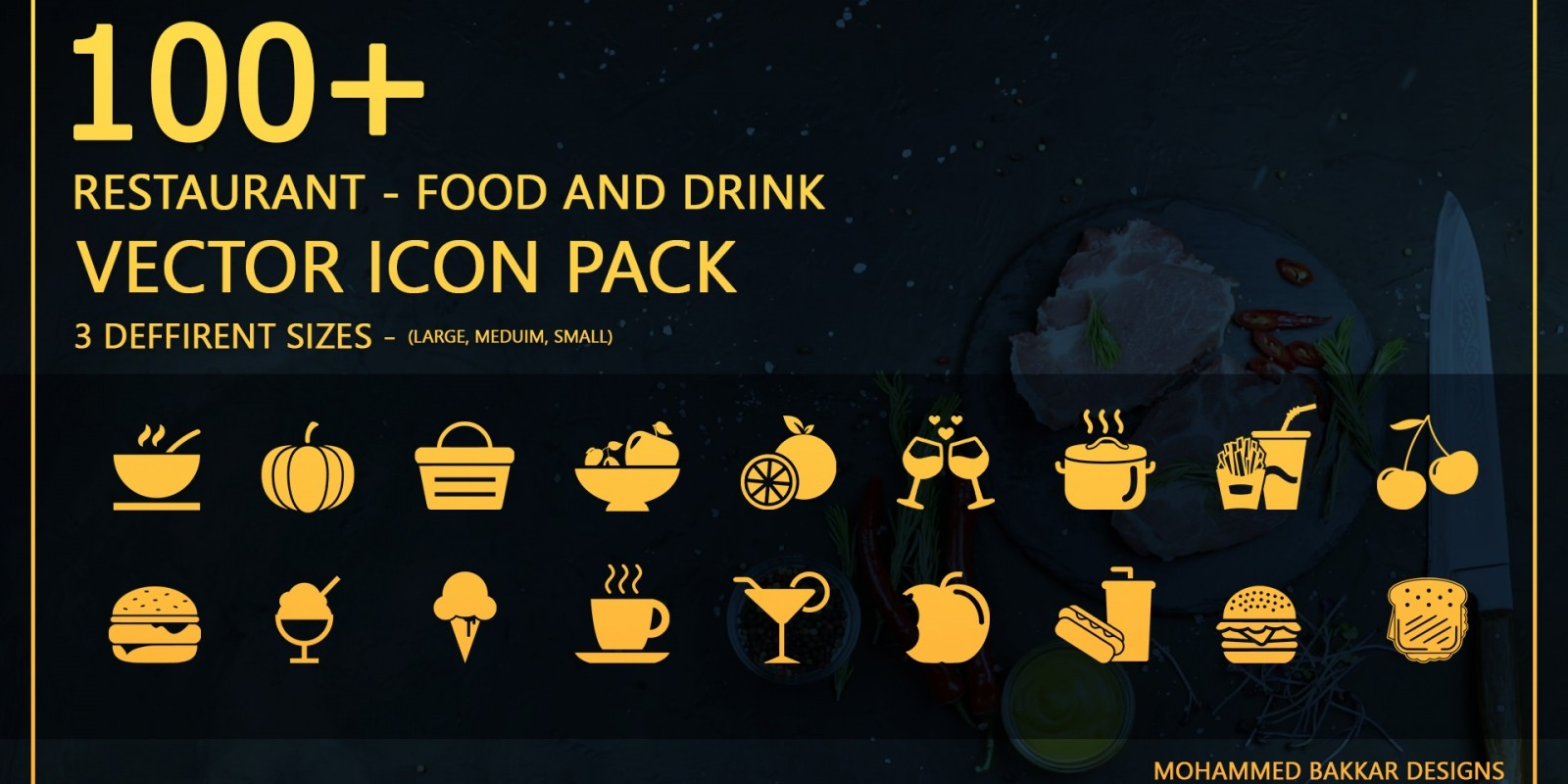 Restaurant Food And Drink - Icon Pack