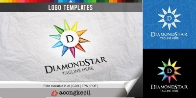 Diamond Star - Logo Template