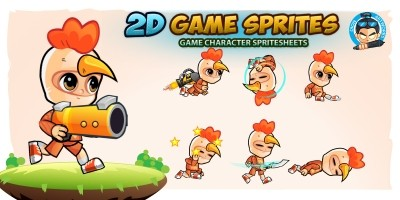 Chicken Boy 2D Game Sprites