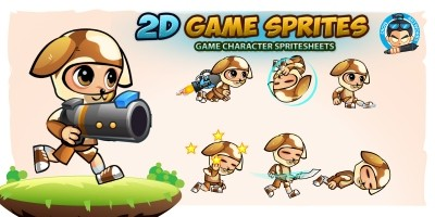 Dogie Boy 2D Game Sprites