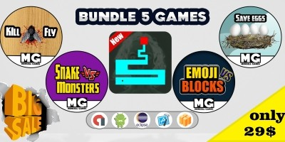5 Games Bundle - Buildbox Templates